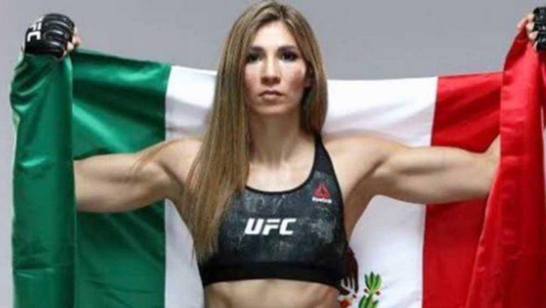 La peleadora mexicana Irene Aldana