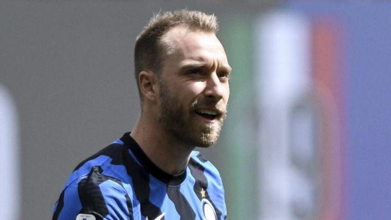 Eriksen en un partido del Inter de Milán