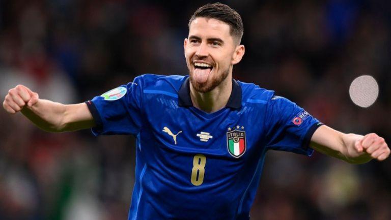 Jorginho tras anotar gol con Italia