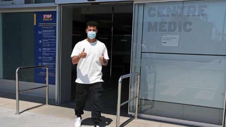 Philippe Coutinho en el Centro de Atención Médica del Barcelona