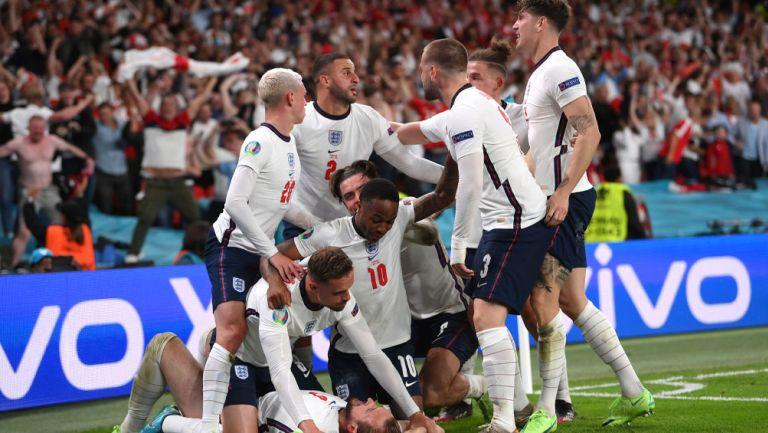 Jugadores de Inglaterra durante la Eurocopa