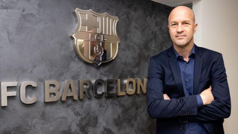 Jordi Cruyff en las instalaciones del Barcelona