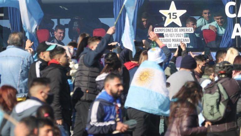 Messi en festejos de Copa América