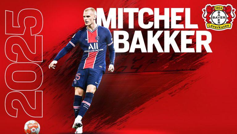 Bayer Leverkusen anunció como refuerzo a Mitchel Bakker