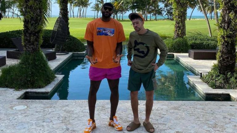 LeBron James y Bad Bunny