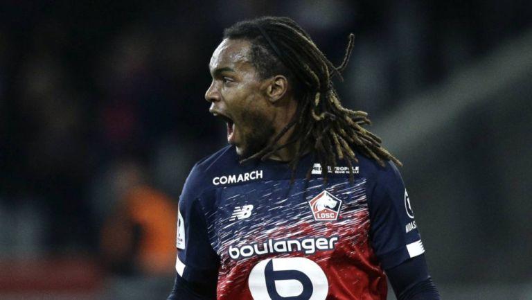 Renato Sanches en un partido del Lille