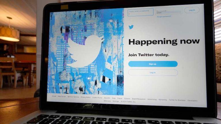 Twitter en computadora