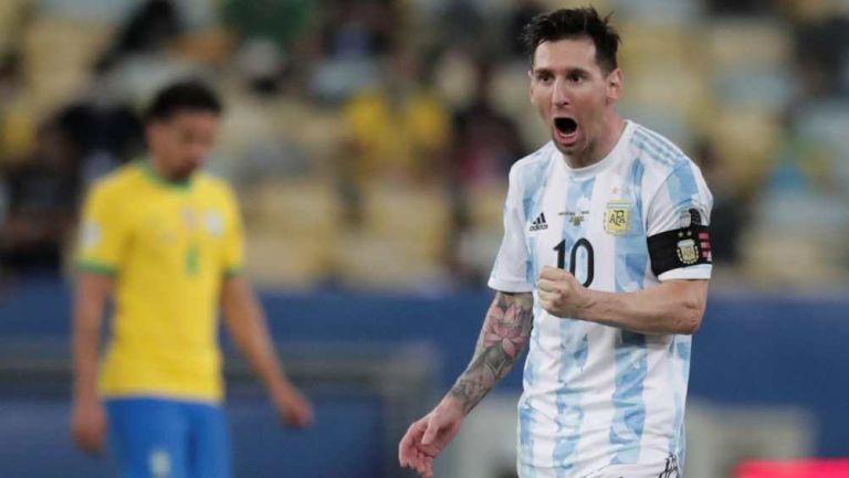 Messi en partido con Argentina
