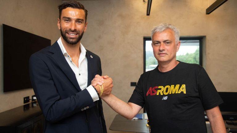 Rui Patricio junto a José Mourinho