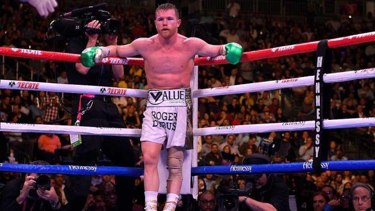 Canelo Álvarez previo a una pelea