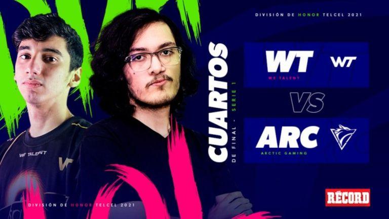 We Talent y Arctic Gaming se enfrentan en Cuartos de Final