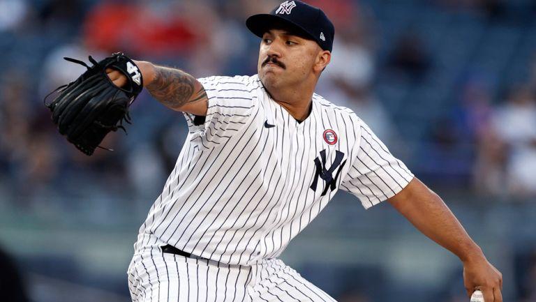 Néstor Cortés Jr., en acción con los Yankees