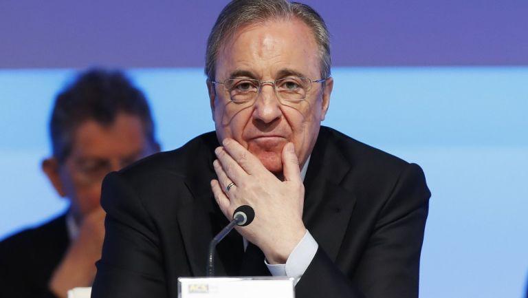 Florentino Pérez durante una conferencia