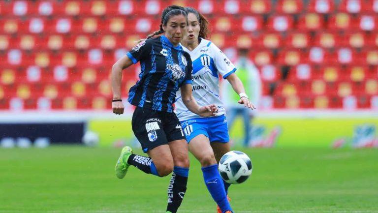 Rayadas y Querétaro Femenil en partido