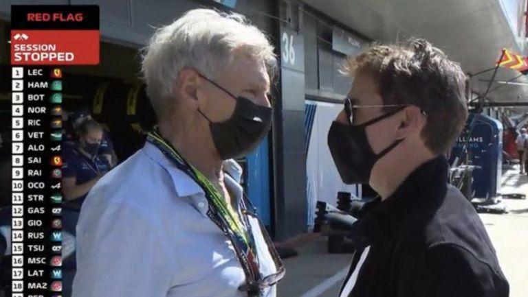 F1: Tom Cruise y Harrison Ford asistieron al Gran Premio de Gran Bretaña