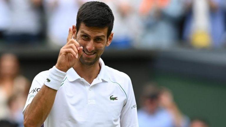 Novak Djokovic en festejo