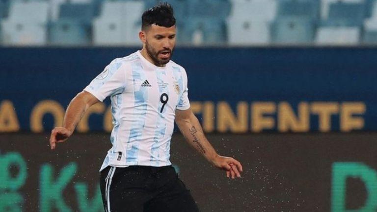 Kun Agüero con la Selección Argentina en la Copa América