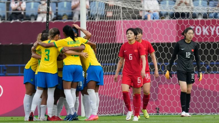 Brasil celebró goleada contra China en Tokio 2020