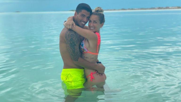 Luis Suárez y Sofía Balbi en Miami