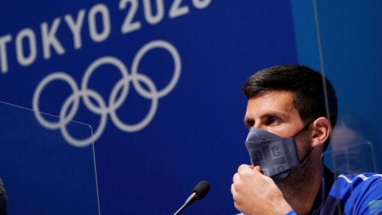 Novak Djokovic, en conferencia con los medios