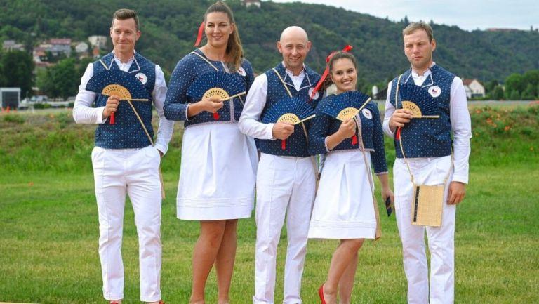 Deportistas del equipo olímpico checo