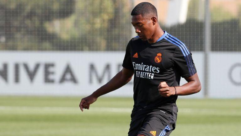 David Alaba en su primer entrenamiento con el Real Madrid