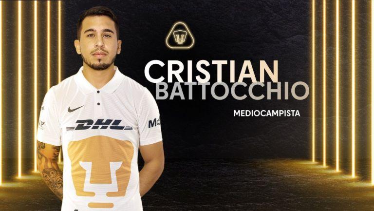 Cristian Battocchio es nuevo jugador de los Pumas