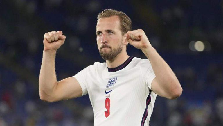 Harry Kane en festejo de gol