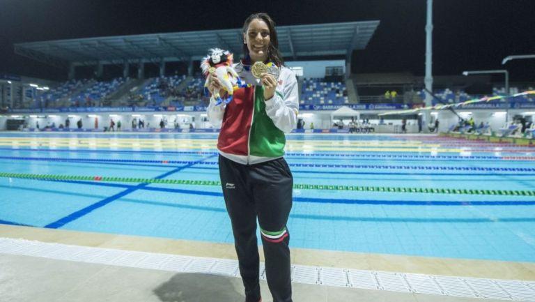 Fernanda González tras ganar una medalla en Barranquilla 2018