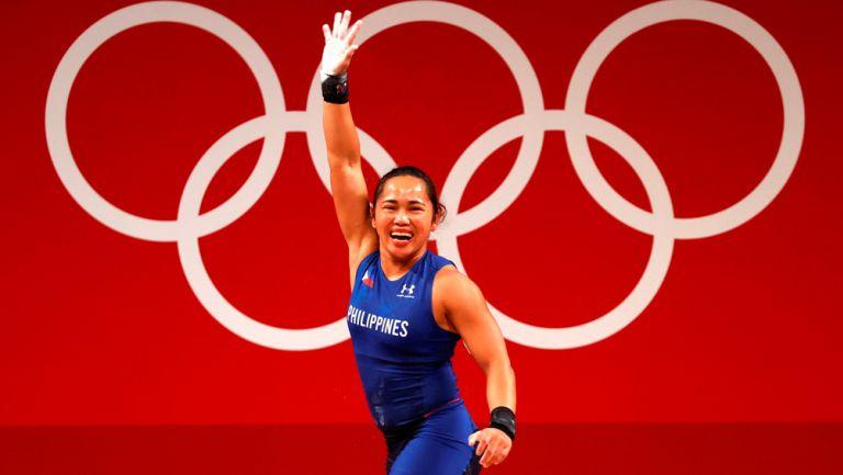 Hidilyn Díaz tras vencer a Liao Qiuyun de China