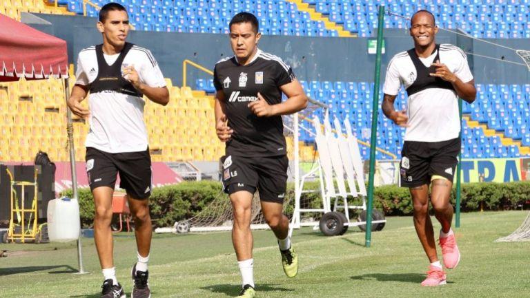 David Ayala y Luis Quiñones en práctica