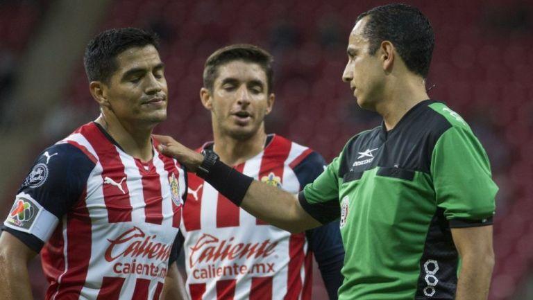 Chapo Sánchez en acción ante Atlético de San Luis