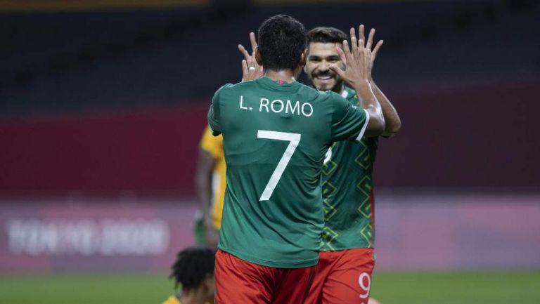 México en festejo de gol