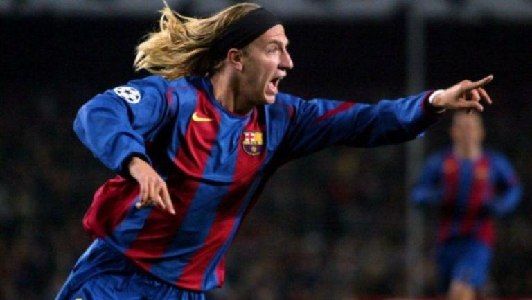 Maxi López en un partido del Barcelona