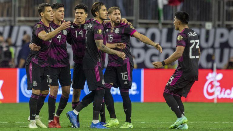 México festeja el gol de la victoria