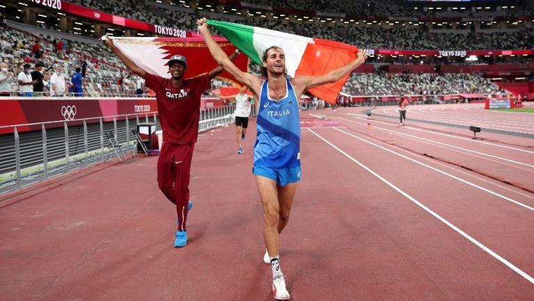 Mutaz Essa Barshim y Gianmarco Tamberi celebran el Oro en Tokio 2020