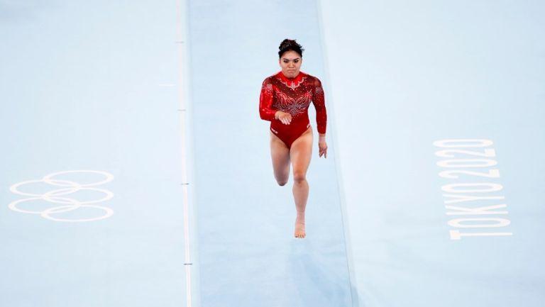 Alexa Moreno en la Final de salto de caballo