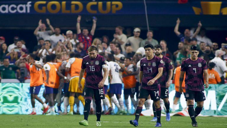 Jugadores del Tri se lamentan tras gol de Estados Unidos