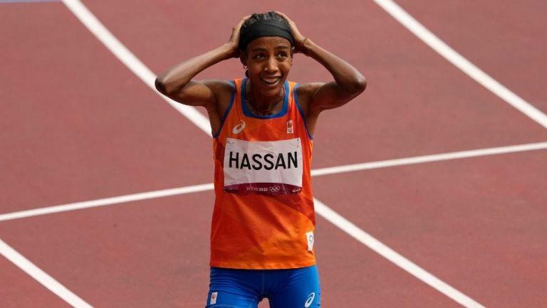 Sifan Hasan al terminar su carrera