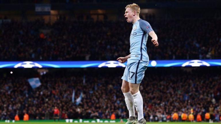 Kevin De Bruyne en acción con Manchester City