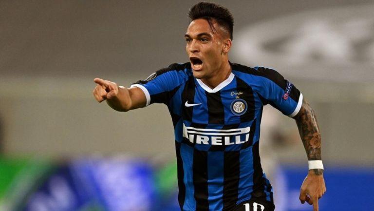 Lautaro Martínez durante partido del Inter de Milán