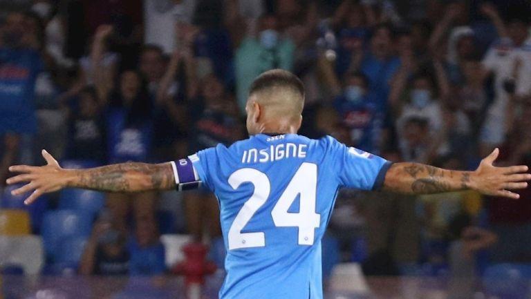 Lorenzo Insigne celebrando su gol ante Venezia