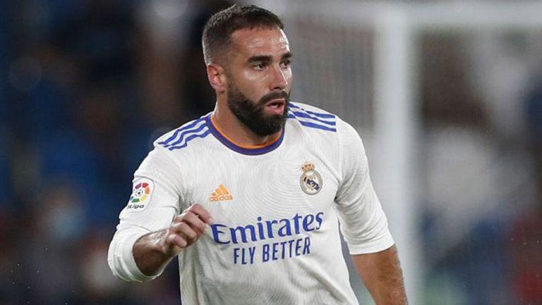 Dani Carvajal, en su regreso a la acción con Real Madrid