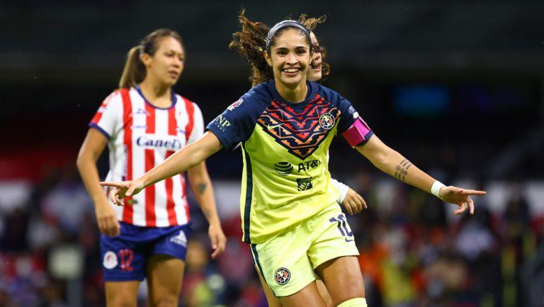 Daniela Espinosa, en festejo de gol