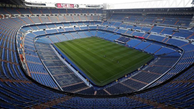 Vista dentro del Santiago Bernabéu