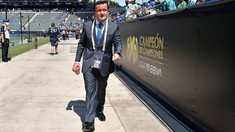 Mikel Arriola, durante el último Campeón de Campeones