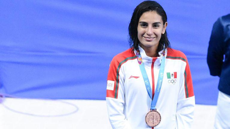Paola Espinosa con su Bronce en Panamericanos de 2019