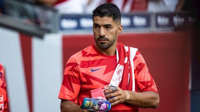 Luis Suárez durante un partido con el Atlético de Madrid