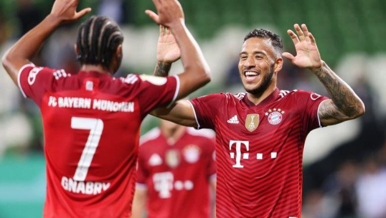 Jugadores del Bayern Múnich en festejo