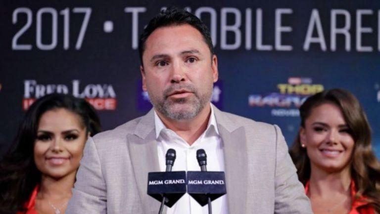 Óscar de la Hoya en conferencia